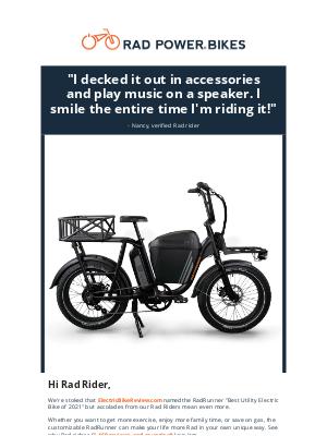 Rad Power Bikes - I smile the entire time I'm riding it.