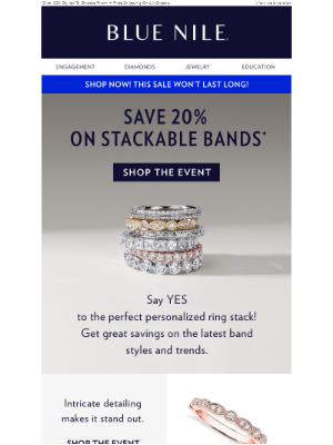 20% Off Stackable Bands: Be A Trendsetter In 2019