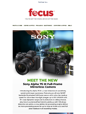 PRE-ORDER NOW! Sony Alpha 7S III – a new milestone in sensitivity, speed and image supremacy.