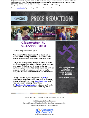Anytime Fitness - Price reduced - Clearwater Florida