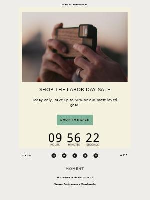 Moment, Inc. - Labor Day Sale
