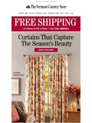 Vermont Country Store - Fresh Curtains for Every Room