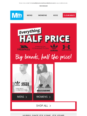 M and M Direct (UK) - Everything HALF PRICE or LESS   Thousands of lines >