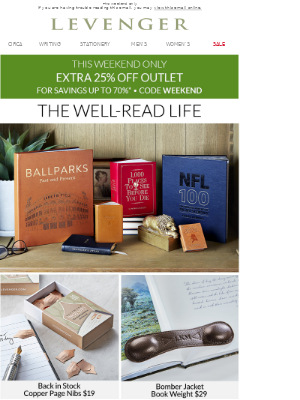 Take 25% off Outlet + The Home Sale.