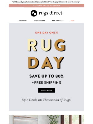 Rugs Direct - Rug Day Is Here! 🎉 Shop Epic Deals On Thousands Of Rugs >