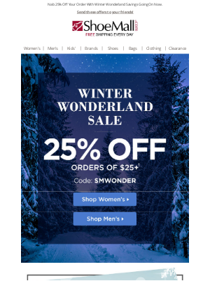 ShoeMall - Winter Wonderland Sale: 25% Off