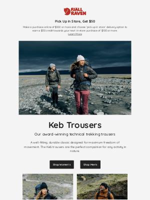 Fjällräven - Keb Trousers - Our award-winning technical trekking trousers