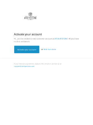 ATOLYESTONE - Customer account activation