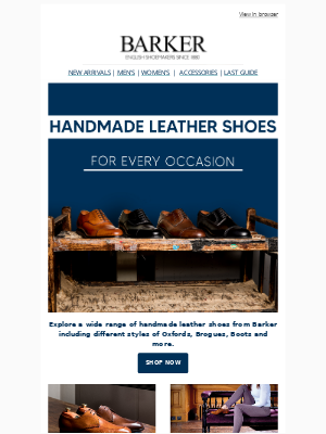 Barker Shoes - Price Drop On Handmade Shoes For Every Occasion !