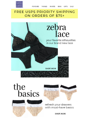 Hanky Panky - Zebra Lace Is Our New Basic