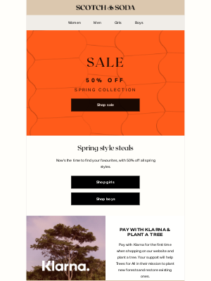 Scotch & Soda - Sale: all spring styles now at 50% off