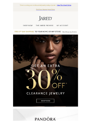 Jared - Save an extra 30% off Clearance jewelry