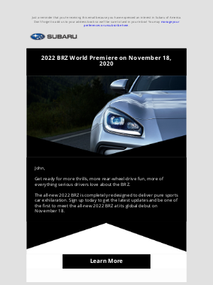 Subaru of America - Coming Soon: The All-New 2022 BRZ