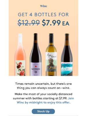 4 bottles. $7.99 each. Last chance.