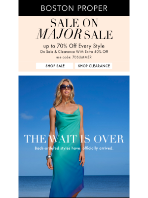 Going Fast – New Inventory + Major Sale Up To 70% Off