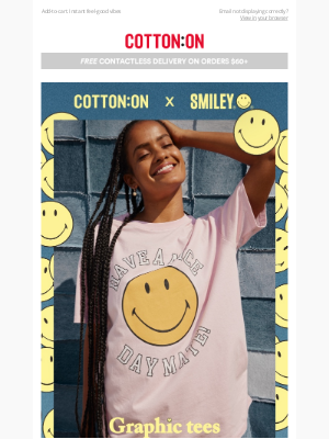 Cotton On & Co. - Our limited-edition SMILEY collab 😊😊