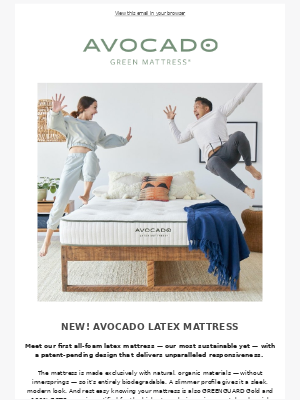 Avocado Green Mattress - NEW! Our Most Responsive Mattress Yet — On Sale! 🌱
