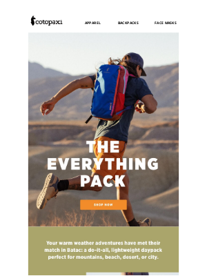 Cotopaxi - The Bag You'll Pack for Every Summer Adventure