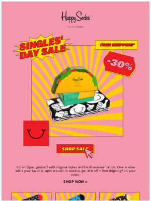 Happy Socks - Spoil yourself! 30% off 🎉