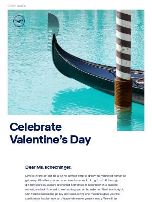 Lufthansa - Dreaming of a romantic getaway?