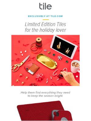 Tile, Inc - Want a great holiday gift?