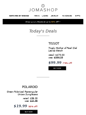 🎈TODAY ONLY: Lamborghini Watch 81% off   Tissot Ladies Watch $100   Polaroid Sunglasses $20