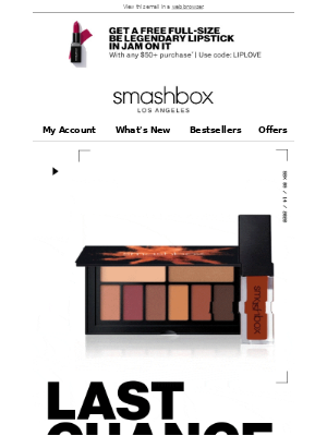 Smashbox Cosmetics USA - SURPRISE! Extended 1 Day! Up to 50% off
