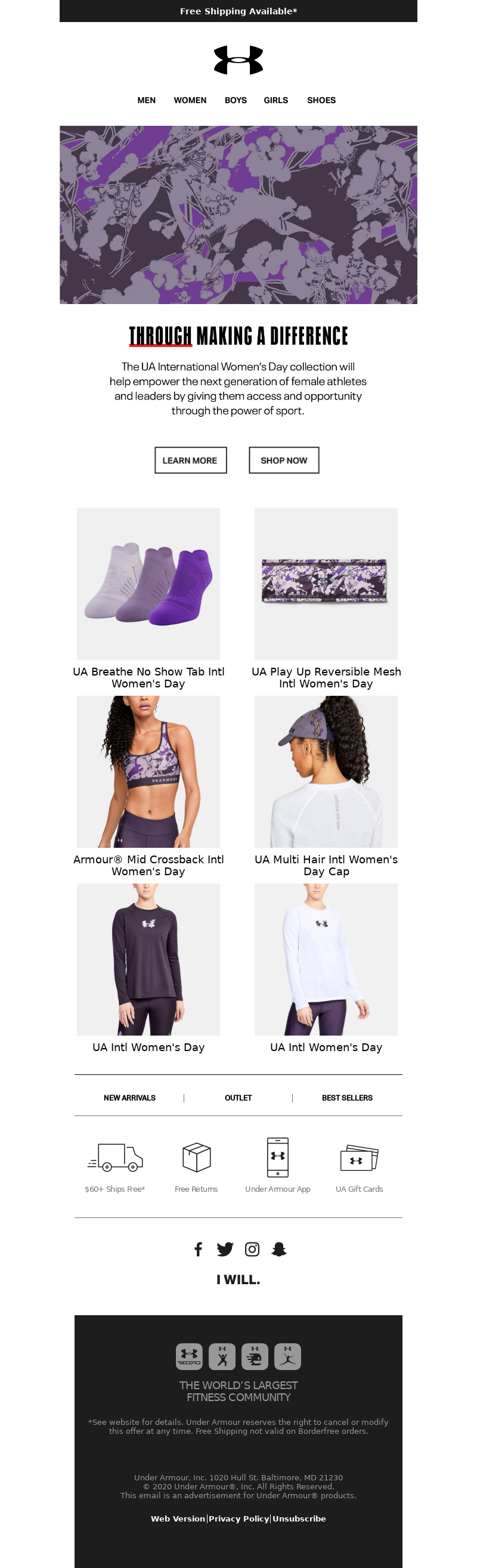 Under Armour - Just Dropped: UA International Women's Day Collection