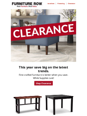 Furniture Row - 2021 Clearance & Closeouts