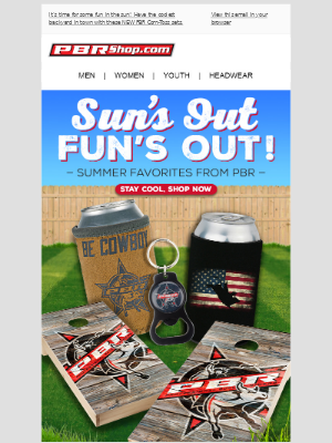 Summer is here! Kick back & relax with PBR's outdoor collection