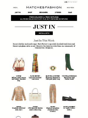 Matches Fashion (UK) - Just In: directional updates by Gucci, Rave Review and Ganni