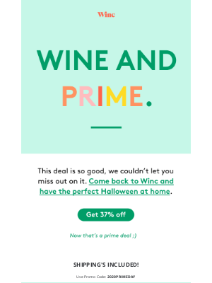 Winc - EXTENDED! The prime deal you need
