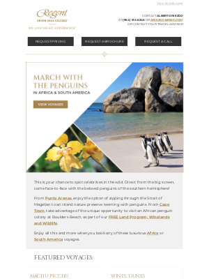Regent Seven Seas Cruises - Spot the Beloved Birds of the Southern Hemisphere