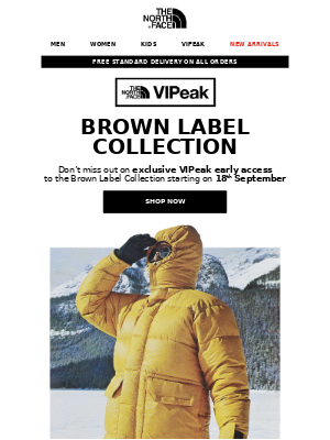 The North Face - VIPeak-only access: Brown Label Collection