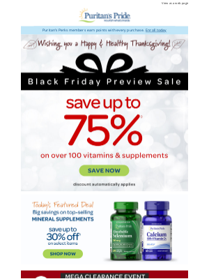 Puritan's Pride - Happy Thanksgiving from Our Family | Shop up to 75% off Sale