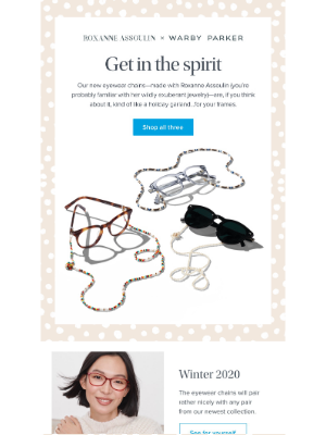 Warby Parker - Our new collaboration with Roxanne Assoulin