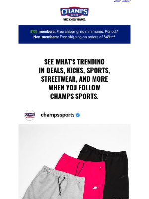 Champs Sports - Follow Champs Sports on social for everything heat! 👟🔥