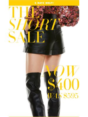 The Short Sale!