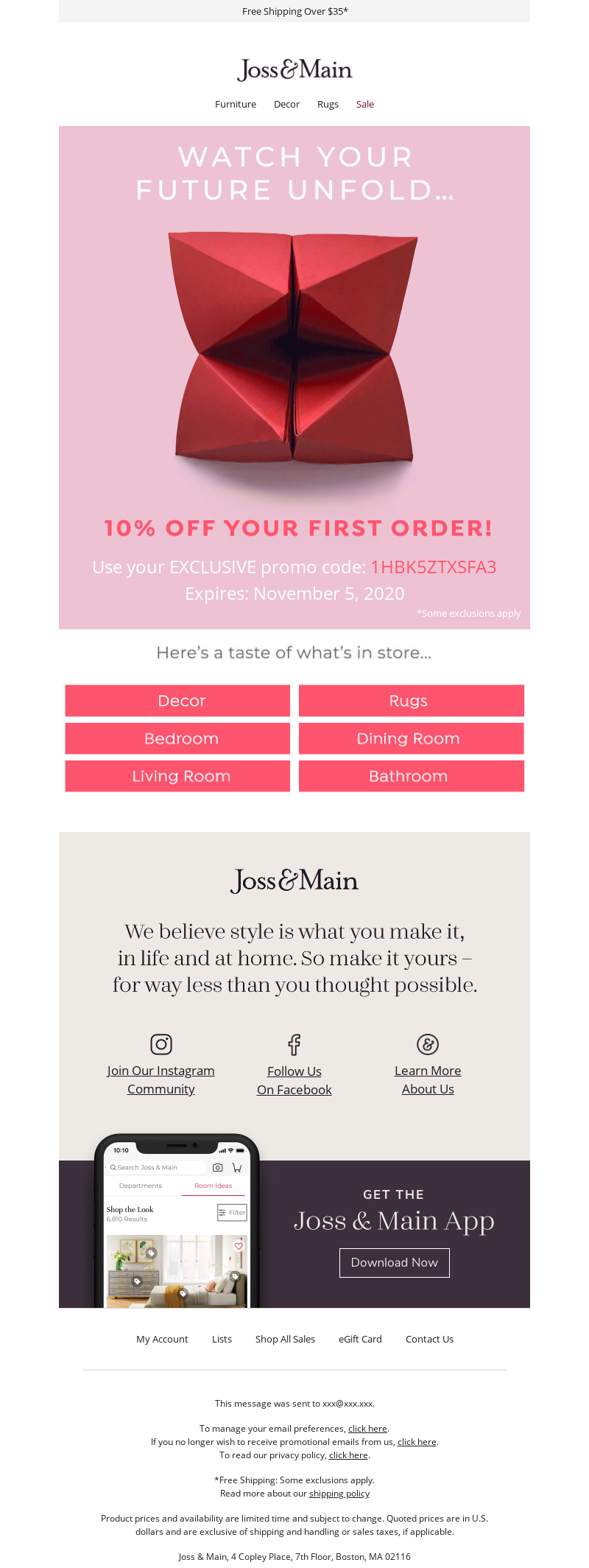 Joss & Main - PREDICTION 🔮 10% off with code »