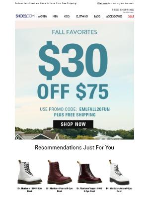SHOES - $30 Coupon + Top Fall Shops