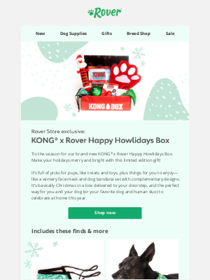 Rover.com - Limited edition! KONG® x Rover Holiday Box 🎄🐶