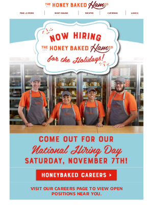 HoneyBaked Ham Online - ⭐We're Hiring for the Holidays!⭐