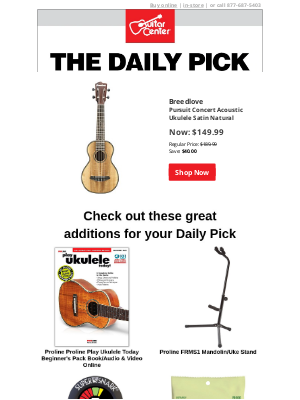 Guitar Center - The Daily Pick: Save 21% today only