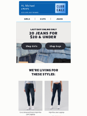 Hollister Co. - LAST CHANCE to get $20 jeans!