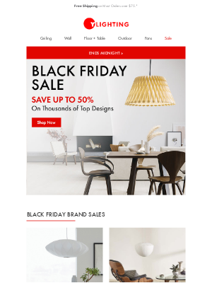 YLighting - ENDS TODAY: Black Friday Sale.