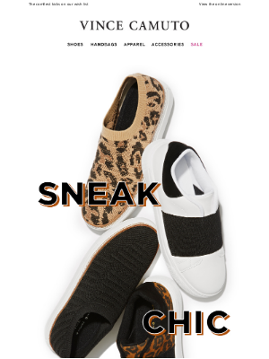 Vince Camuto - Say hello to your new favorite indoor-outdoor sneakers