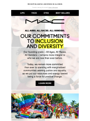 MAC Cosmetics - THESE are our promises for Inclusion and Diversity.