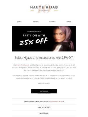 Haute Hijab - 25% off select items still going! 😱