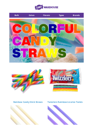 CandyWarehouse - 🌈 Start the New Year with Colorful Candy Straws!
