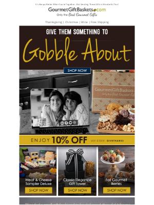 GourmetGiftBaskets - Gobble Up These Thanksgiving Gift Baskets 🍗